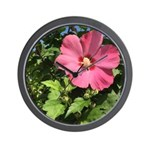 Pink Hibiscus Tropical Flower Wall Clock