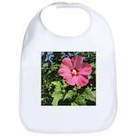 Pink Hibiscus Tropical Flower Baby Bib