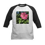 Pink Hibiscus Tropical Flower Baseball Jersey