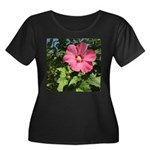 Pink Hibiscus Tropical Flower Plus Size T-Shirt