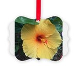 Yellow Hibiscus Tropical Flower Ornament