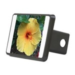 Yellow Hibiscus Tropical Flower Hitch Cover
