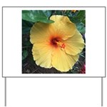 Yellow Hibiscus Tropical Flower Yard Sign