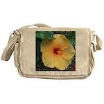 Yellow Hibiscus Tropical Flower Messenger Bag