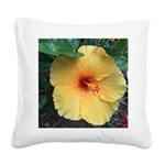 Yellow Hibiscus Tropical Flower Square Canvas Pill
