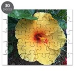 Yellow Hibiscus Tropical Flower Puzzle