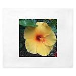 Yellow Hibiscus Tropical Flower King Duvet
