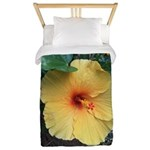 Yellow Hibiscus Tropical Flower Twin Duvet Cover