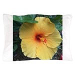 Yellow Hibiscus Tropical Flower Pillow Case