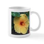 Yellow Hibiscus Tropical Flower Mugs