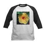 Yellow Hibiscus Tropical Flower Baseball Jersey