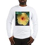 Yellow Hibiscus Tropical Flower Long Sleeve T-Shir