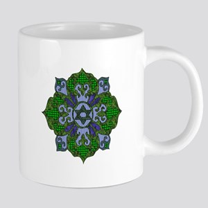 Green Hanukkah Mandala 20 oz Ceramic Mega Mug
