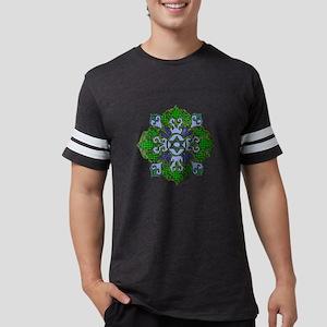 Green Hanukkah Mandala Mens Football Shirt