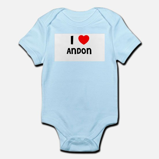 I LOVE ANDON Infant Creeper