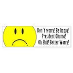 Don't Worry. Be Happy. Bumper Sticker (50 pk)