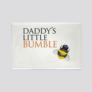 Daddy's Bumble Bee Rectangle Magnet