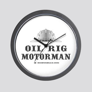 Motorman Wall Clock, Oil Patch Gift, Hard Hat,