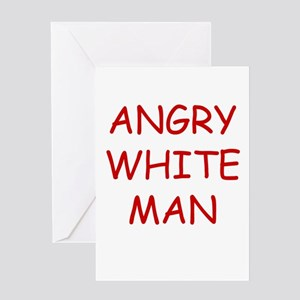 Angry White Man Greeting Card