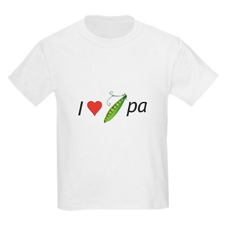 I love my pee-pa (grandpa) Kids Light T-Shirt
