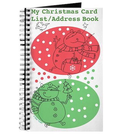 christmas card list address book by stantoon