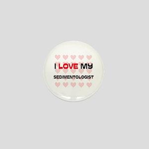 I Love My Sedimentologist Mini Button