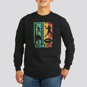 Vintage Football Coach Graphi Long Sleeve T-Shirt