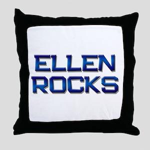 ellen rocks Throw Pillow