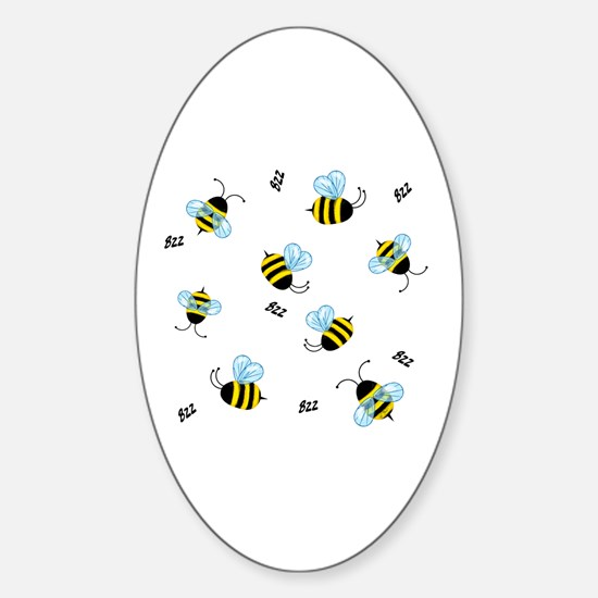 Bees Oval Decal