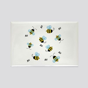 Bees Rectangle Magnet
