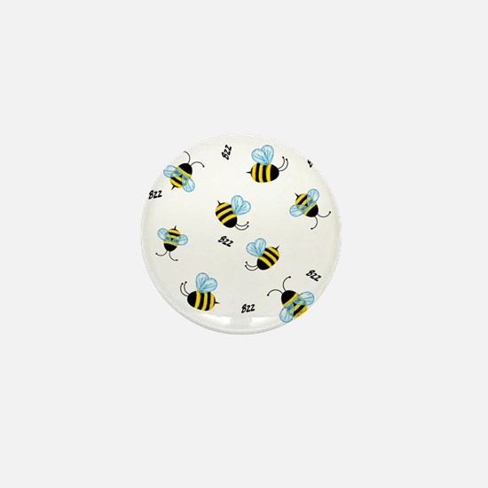 Buzzing Bees Mini Button