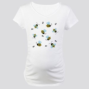Buzzing Bees Maternity T-Shirt
