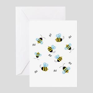 Buzzing Bees Greeting Card