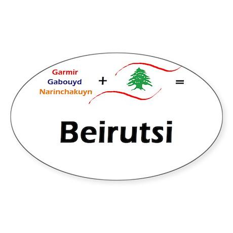 Beirutsi Oval Sticker
