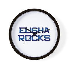 elisha rocks Wall Clock