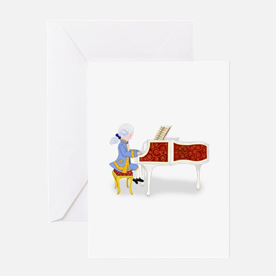 Mozart at the Pianoforte Greeting Card