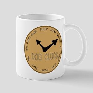 dog clock Mug