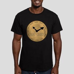 dog clock Men's Fitted T-Shirt (dark)