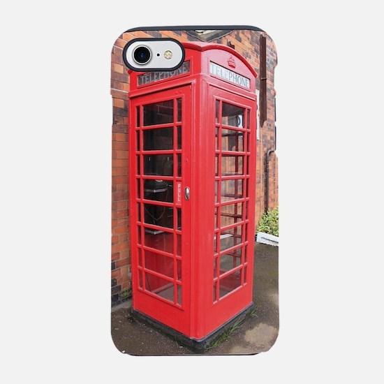 red phone call box london iPhone 7 Tough Case