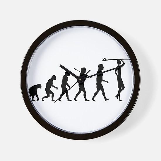 Surf Evolution Wall Clock