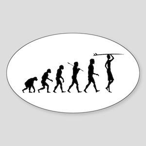 Surf Evolution Oval Sticker