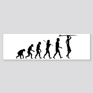 Surf Evolution Bumper Sticker