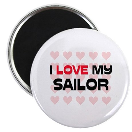 "I Love My Sailor 2.25"" Magnet (10 pack)"