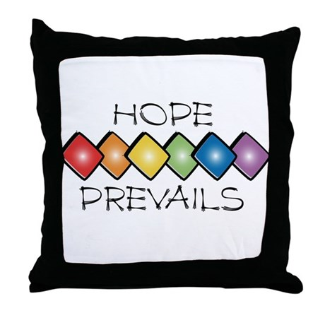 Hope Prevails Throw Pillow