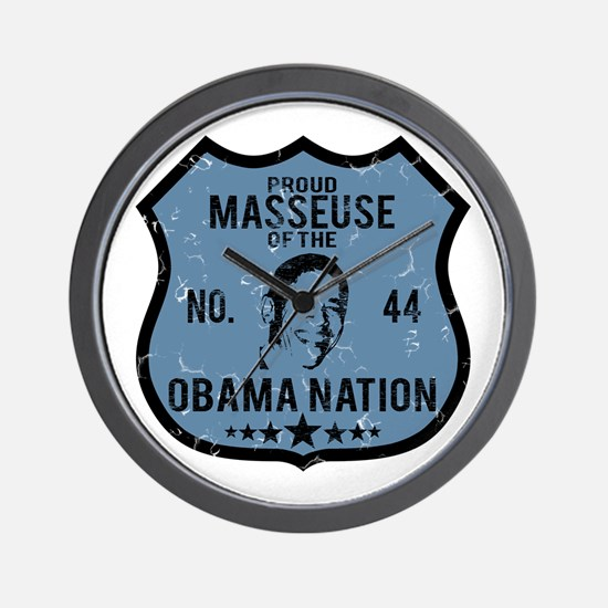 Masseuse Obama Nation Wall Clock