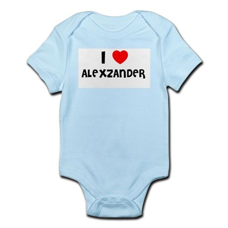 I LOVE ALEXZANDER Infant Creeper