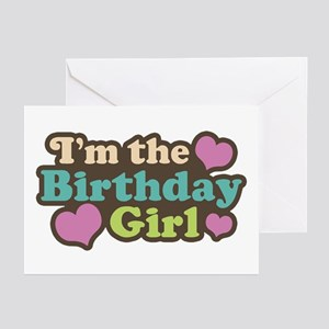 I'm The Birthday Girl Greeting Cards (Pk of 10)