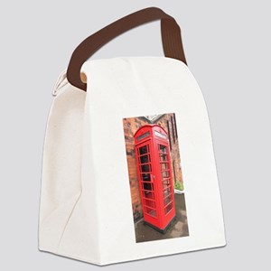 red phone call box london Canvas Lunch Bag