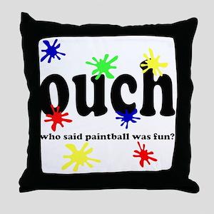 paintball Throw Pillow