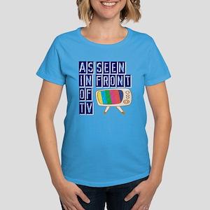 As Seen In Front of TV Women's Dark T-Shirt